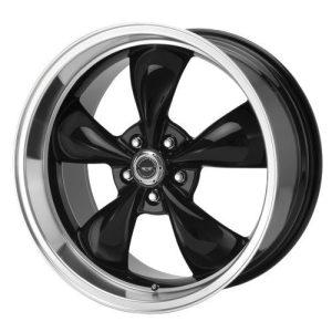 Thrust M Gloss Black Wheel With Machined Lip