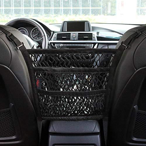 AMEIQ 3-Layer Car Mesh Organizer, Seat Back Net Bag