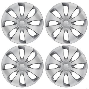 Silver Hubcaps Wheel Covers Full Heat & Impact Resistant Grade