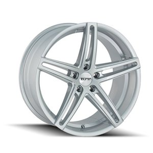 Gloss Silver/Milled Spokes Wheel Finish 18 x 8. inches /5 x 112 mm, 35 mm Offset