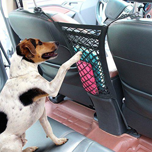 9 MOON Cargo Net, 2 Pocket Seat Back Net Bag