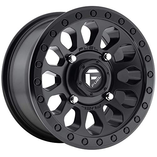 -12 mm Offset Fuel Vector black Wheel with Painted Finish