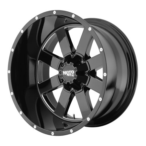 """Gloss Black Wheel With Milled Accents 18x9""""/5x127, 139.7mm"""