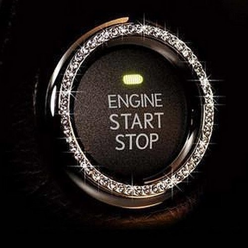 Bling Car Decor Crystal Rhinestone Car Bling Ring Emblem Sticker