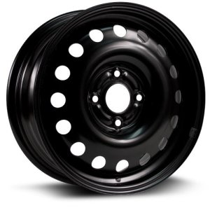 RTX, Steel Rim, New Aftermarket Wheel, black finish 15X6