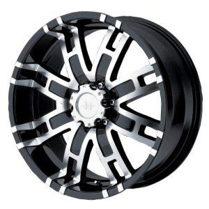 "Gloss Black Machined Wheel 17x8"""