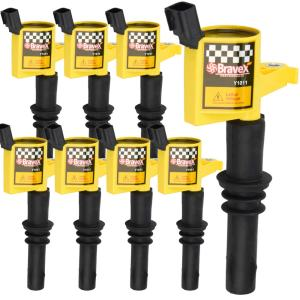 Bravex 8 Pack Straight Boot Ignition Coils 15% More Energy