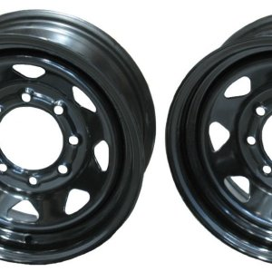 2-Pack Trailer Wheels 16 in. X 6 in. 8 Lug Black