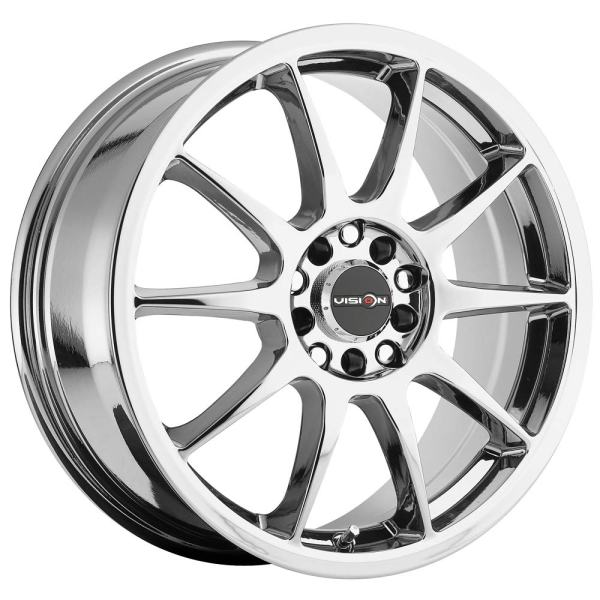 Chrome Wheel Rim 15x6.5 4x100/4x108 +38mm