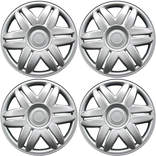 1988-2001 Toyota Camry 15in Hub Caps Silver Rim Cover