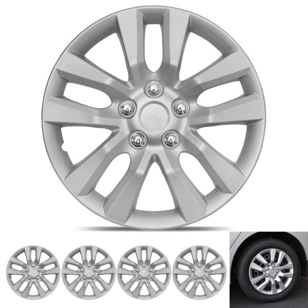 Wheel Covers Snap Clip-On Auto Tire Rim Replacement for 16 inch