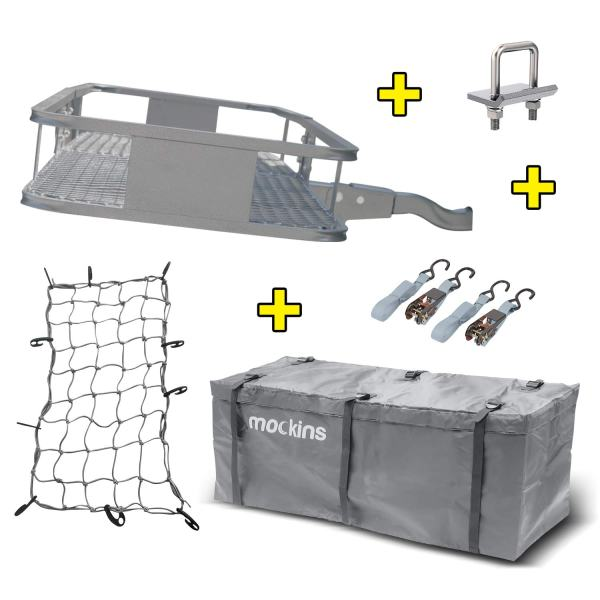 Hitch Mount Cargo Carrier with Cargo Bag and Net