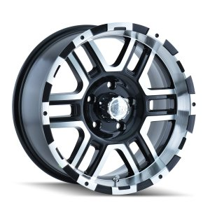"""Black Wheel with Machined Face/Lip 16x8""""/8x170mm"""