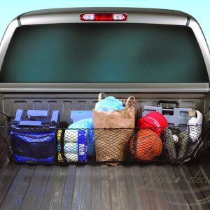 Black Mesh Three Pocket Trunk Cargo Organizer Storage Net