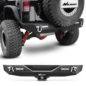 Nilight - JK-52A Rear Bumper Compatible for 2007-2018 Jeep Wrangler JK