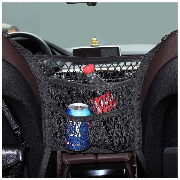 Car Net Pocket Organizer, Timorn Car Purse Holder