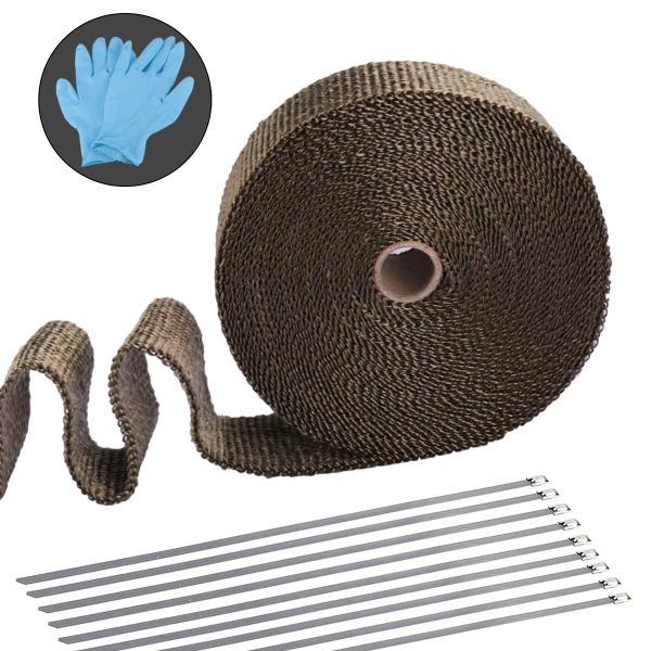 Titanium Universal Exhaust Heat Insulation Tape