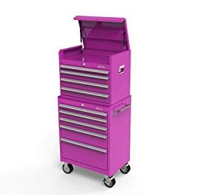 The Original Pink Box 26-Inch 9-Drawer Steel Tool