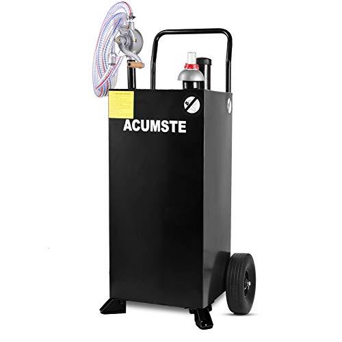 ACUMSTE 30 gallon gas caddy fuel transfer pump tank