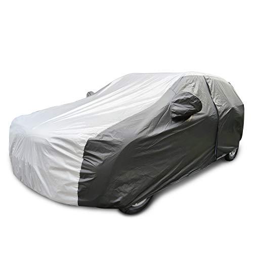 Waterproof All Weather Car Cover with Zipper Door