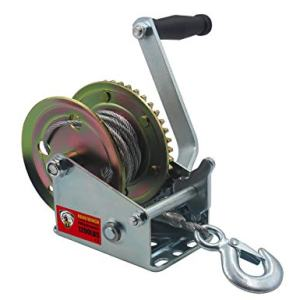 TYT 1200lbs Trailer Winch with Length 8M(26ft) Steel Wire and Hook