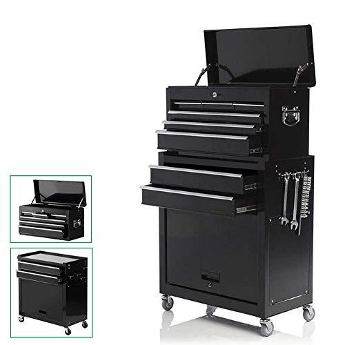 Large 8-Drawer Rolling Tool Chest -Metal Tool Box Organizer