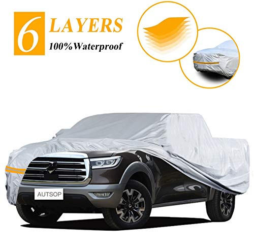Autsop Truck Cover, 6 Layers Truck Cover Waterproof All Weather