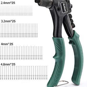 Single Hand Manual Rivet Gun Kit With 4 Tool-free