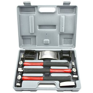 Repair Kit for Dents Heavy Duty Auto Body Hammer and Dolly Set
