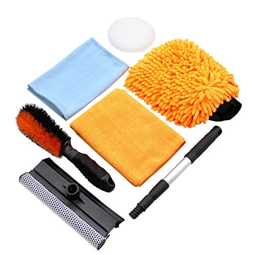 Cleaning Tools Kit by Scrub it- Squeegee Car Wash Brush