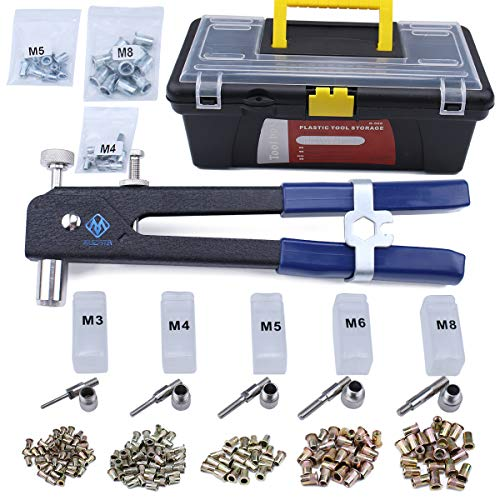 465 Pieces Blind Rivet Nut Kit Set, Riveter Tool