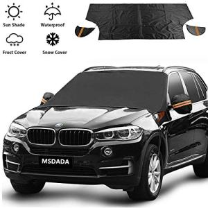 MSDADA Car Windshield Snow Cover,Snow Ice Frost Auto Cover
