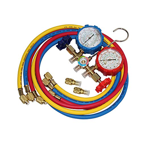 5FT AC Diagnostic Manifold Freon Gauge Set