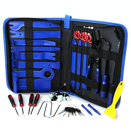 60Pcs Trim Removal Tool,Car Panel Door Audio Removal Tool Kit
