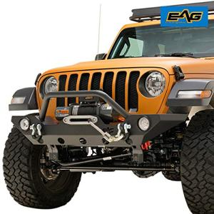 EAG Front Bumper Rock Crawler with Fog Light Housing