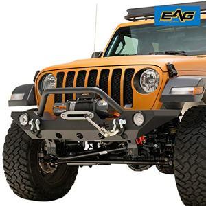 EAG Front Bumper Rock Crawler with Fog Light Housing