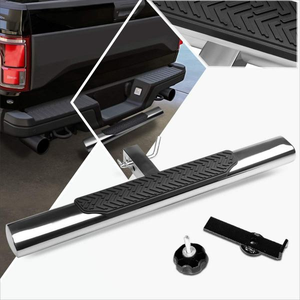 Stainless Steel Trailer Towing Tailgate Hitch Step Bar