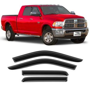 2009-2018 Crew Cab Glass Tape-on Extra Durable Rain Guard