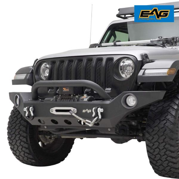 EAG Full Width Front Bumper with Fog Light Hole