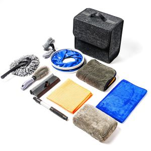OKAYC 10 Pcs Car Wash Kit for Interior and Exterior