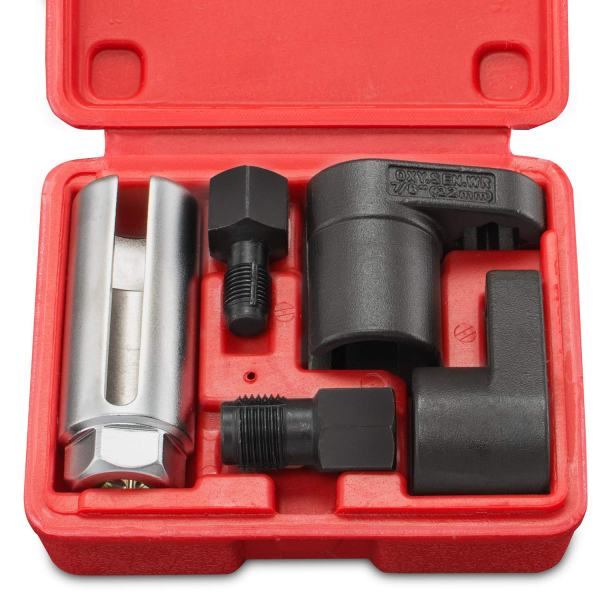 Tooluxe Oxygen Sensor Socket Wrench and Thread Chaser Set