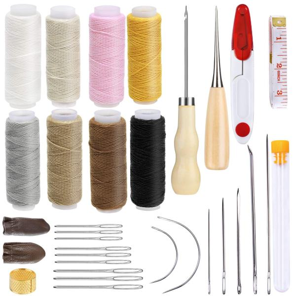 Leather Sewing Repair Kit with Storage Box