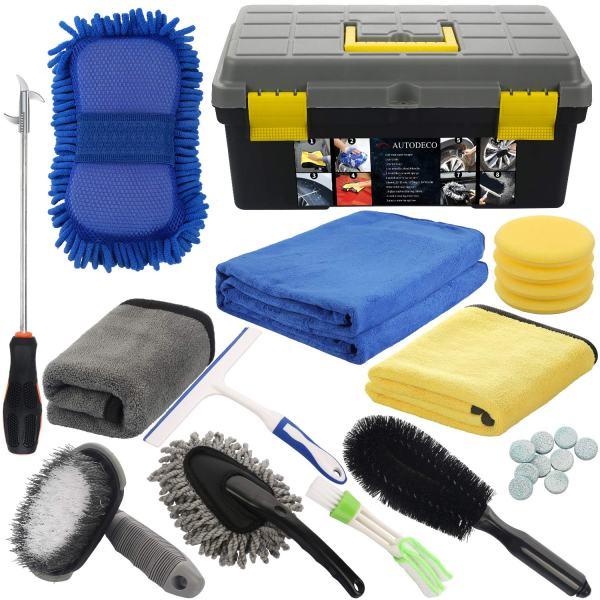 AUTODECO 25Pcs Microfibre Car Wash Cleaning Tools Set