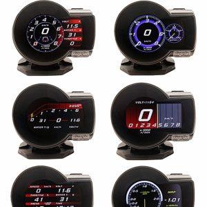 OBD2 Display Car Digital Boost Gauge Voltage Speed Meter