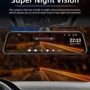 Car Dual Lens Video Recorder Rearview mirror