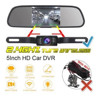 Rear View Backup Camera LCD Monitor Mirror Wireless