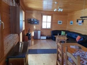 Blick von Küche zum Wonbereich unteres Stockwerk