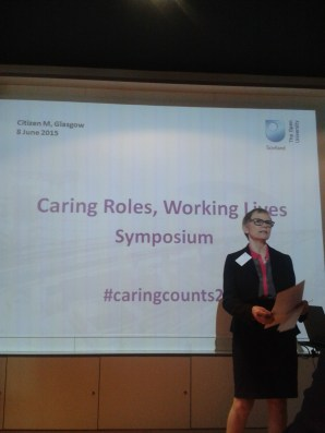 Lindsay Hewitt (The Open University in Scotland) closing the Caring Counts symposium