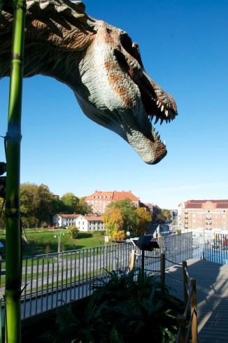 Dinosaur over Gothenburg