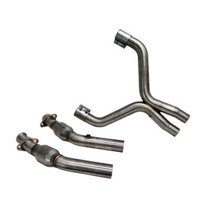 2007-10 Mustang GT500 2-3/4″ X-pipe with converters (for stock manifolds/shorty headers) – 304 Stainless Steel